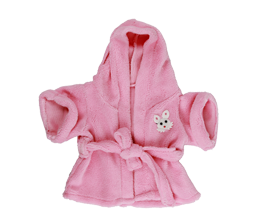 Pink Towelling Dressing Gown