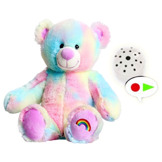 Rainbow Message Bear